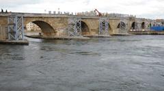 Regensburg Bridge Stock Footage