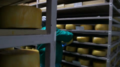 Cheese Storage  Stock Footage