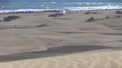 Spain - Gran Canaria - Maspalomas dune Stock Footage