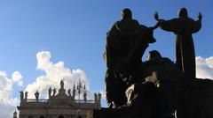 Basilica of St John Lateran in Rome 2 - stock photo