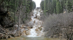 ZhaGa Tufa Waterfall - stock footage