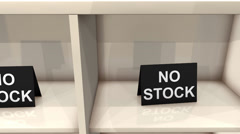 No out of stock sign. Stock Footage