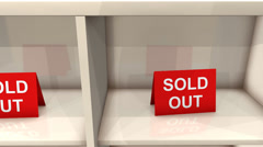 Sold out item sign. Stock Footage