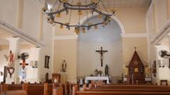 spanish colonial catholic church altar - stock footage