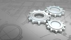 Mechanical engineering background animation. Stock Footage