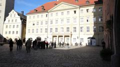 Regensburg Town Center Stock Footage