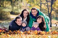 Stock Photo of family in the autumn park