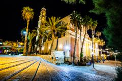 st. peter's church is a franciscan church in jaffa, part of tel aviv, in isra - stock photo