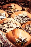 Crosses sold in via dolorosa street market, jerusalem old city, israel. Stock Photos