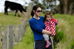 Environmental issues facing dairy farmers Stock Photos