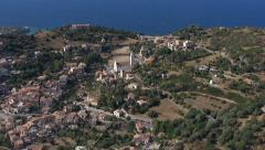 Aerial corsica corbara Stock Footage