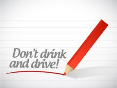 Stock Illustration of dont drink and drive warning message illustration