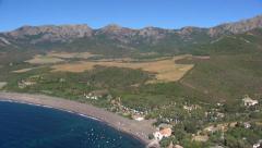 Aerial corsica beach argentella Stock Footage