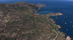 Aerial corsica revellata calvi Stock Footage