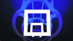 Vj seamless loop square tunnel animation Stock Footage