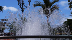 Water fountain jet water streams Stock Footage