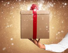 magic gift - stock photo