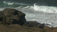Stock Video Footage of big surf at atlantic coast in portugal