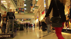 Christmas tree in a shopping mall, holiday, Christmas time - stock footage