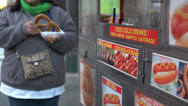 Stock Video Footage of Eating at a New York City food stand (10 of 10)