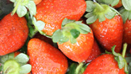 Stock Video Footage of Food Strawberry fruit juice