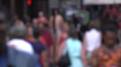 People walking out-of-focus 03 Stock Footage