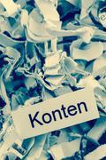 Shredded paper accounts keyword Stock Photos