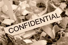 Shredded paper confidential Stock Photos