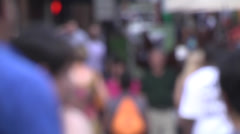 People walking out-of-focus 05 Stock Footage