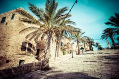 The old streets of jaffa, tel aviv, israel Stock Photos