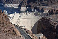 Hoover dam and lake mead Stock Photos