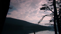 Clouds and tranquil lake Stock Footage