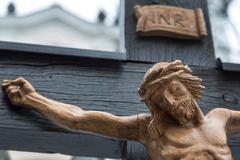 Ristiinnaulitsemisen jeesus. Kuvituskuvat