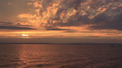 Spectacular Sea Sunset Stock Footage