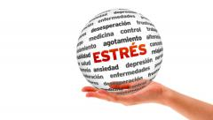 Stress word sphere (In Spanish) Stock Footage