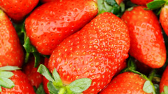 Food Strawberry fruit juice Stock Footage