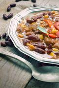 Chili con carne plate Stock Photos