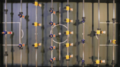 Table Football from above Stock Footage