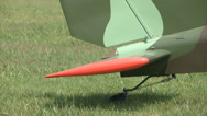 Stock Video Footage of Rudder of light aircraft