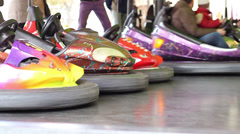 Electric Bumper Cars Stock Footage