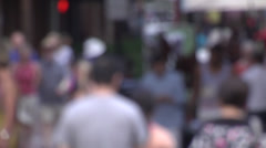 Stock Video Footage of people walking out-of-focus 04