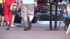 People walking ground level view 03 Stock Footage
