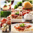 Collage of pasta dish Stock Illustration