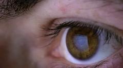 eyeball computer display reflection 3/3 - stock footage