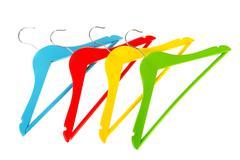 coat-hangers - stock photo