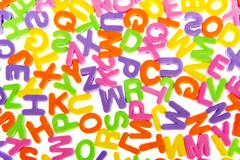 Colorful letter chaos Stock Photos