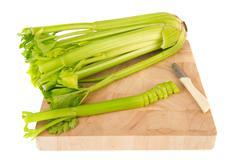 Cutting fresh celery Stock Photos