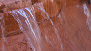 Stock Video Footage of Red Rock waterfall stream