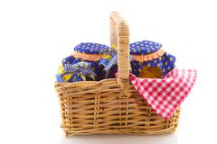 wicked cane picnic basket - stock photo
