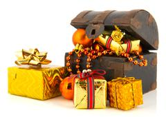 treasury box for christmas - stock photo